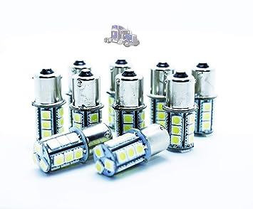 10x BOMBILLAS LED P21W BA15S R5W R10W 24V CAMIONES AUTOBUSES: Amazon.es: Coche y moto