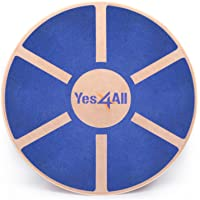 yes4all Wooden Wobble Balance Board – Entrenador de balance de ejercicio Estabilidad 40 cm diámetro