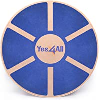 yes4all Wooden Wobble Balance Board–Entrenador de balance de ejercicio Estabilidad 40cm diámetro