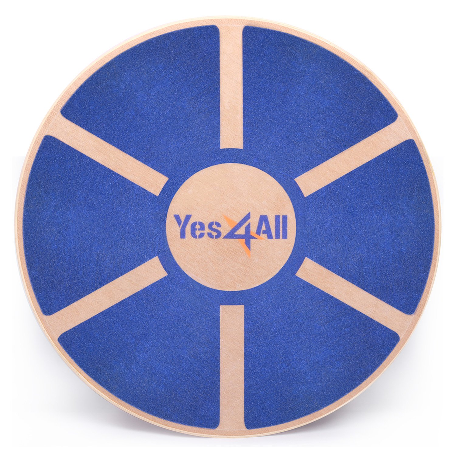 Yes4All Wooden Wobble Balance Board – Exercise Balance Stability Trainer 15.75 inch Diameter