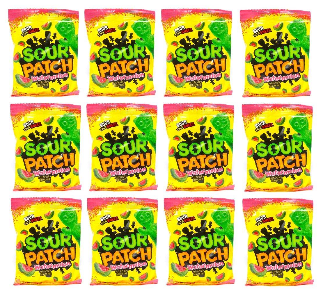Sour Patch Watermelon Sour Then Sweet: 12 Packs of 5 Oz - Tj