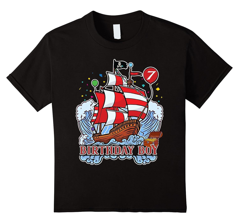 Birthday birthday Pirate T shirt Black-Veotee
