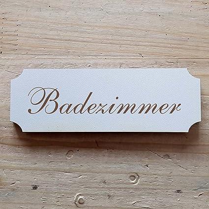 Cartel « cuarto de baño » AB: 15 x 5 cm - Placa para puerta ...