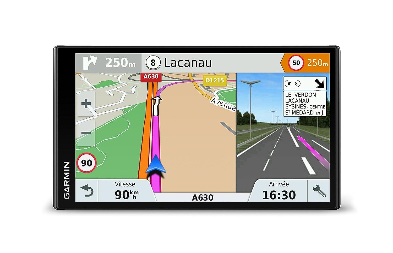 Gamin DriveSmart 61LMT-S Navigationsgerä t (17,7 cm (6,95 Zoll) Touch-Display, 46 Lä nder Europas, lebenslang Kartenupdates, TMC) Garmin 010-01681-12