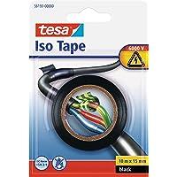 tesa 56193-00000-22 Insulating Tape Electrical PVC tape, 10m x 15mm, zwart