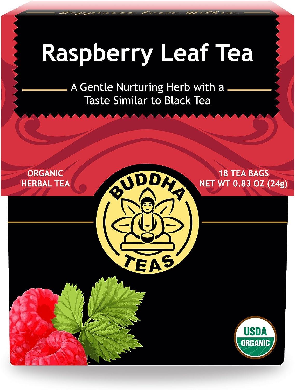 Organic Raspberry Leaf Tea - Kosher, Caffeine-Free, GMO-Free - 18 Bleach-Free Tea Bags