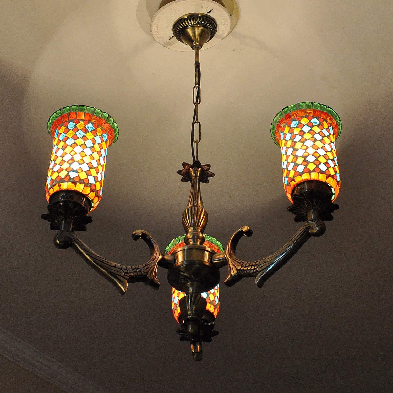 Amazon.com: Lalhaveli - Lámpara de techo de cristal de ...