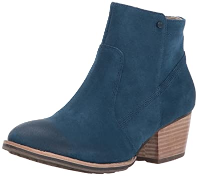 Women's Cider Side Zip Bootie with Stacked Heel Ankle Boot