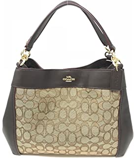 8b267f6be354 Amazon.com  Coach Signature 12CM Zip Top Tote - Khaki Mahogany  Shoes
