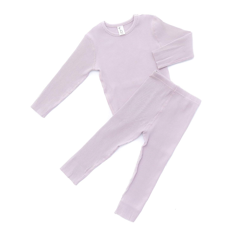 Alex Nova HipZoo Organic Cotton Snug-Fit Ribbed Pajamas for Kids and Toddlers