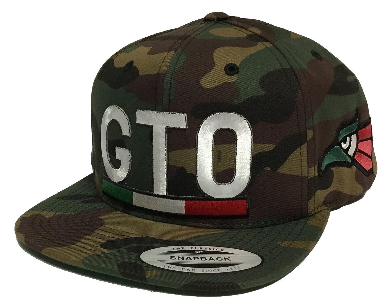 5945d6a1889 Capsnmore Guanajuato Mexico Logo Federal 2 Logos Hat Camo 3 Color Eagle A  Lado Snapback at Amazon Men s Clothing store