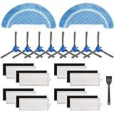 Isincer 19 Kit de Accesorios de Repuesto Compatible con la aspiradora Robot Conga 1090 (8 Juegos de filtros Hepa + 8…