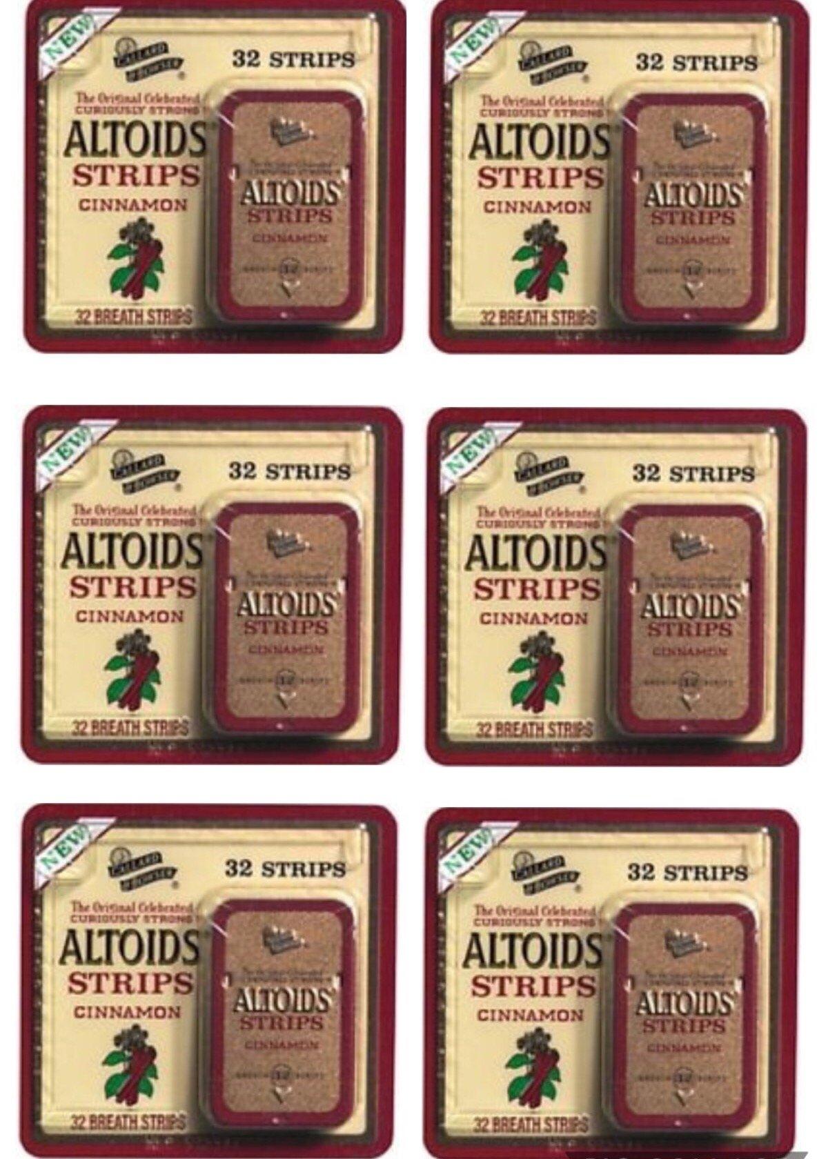 Altoids Breath Strips Cinnamon 32 Strips (Pack of 6 Tins)