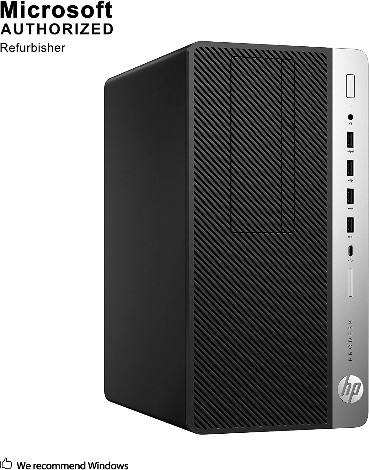 HP ProDesk 600 G3 Premium Micro Desktop Business Tower PC 2019 Flagship, Intel Core i5-7500 Quad-Core, 16GB RAM, 1TB HDD, DVDRW, USB-C, Display Port, No WiFi, Win 10 Pro W/Masdrow Accessories