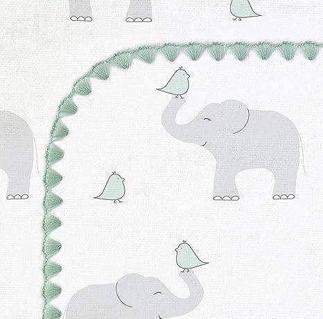Elefant und K/üken SwaddleDesigns Ultimatives Pucktuch Premium Baumwollflannell Pastellblau