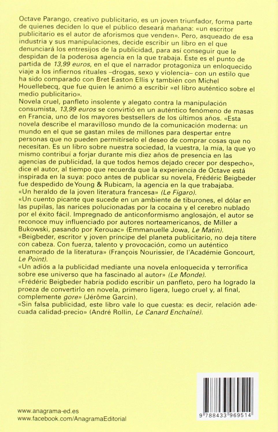 1399 Euros (Spanish Edition): Frederic Beigbeder: 9788433969514: Amazon.com: Books