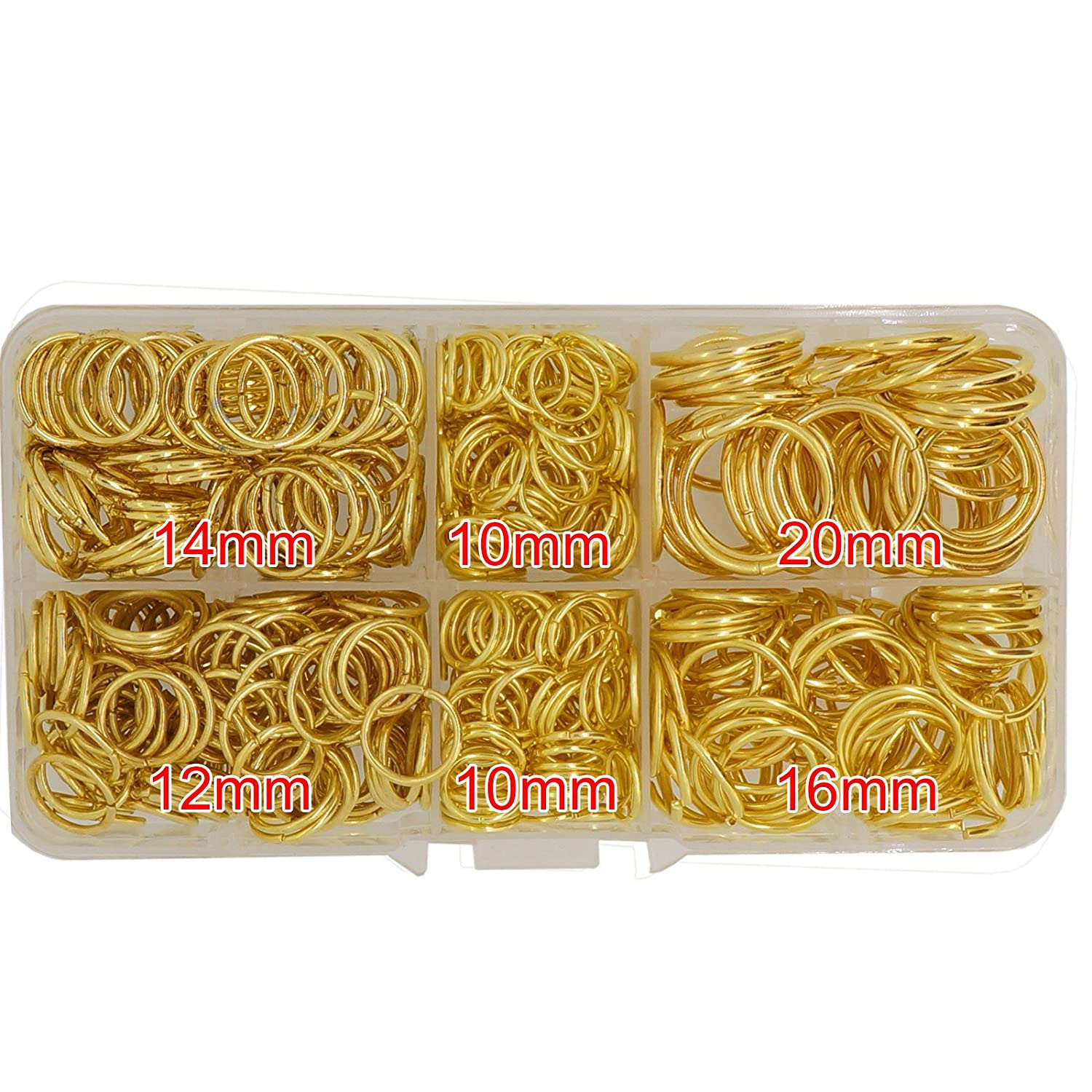 10,12,14,16,18mm Silver Color with Box Metal Jump Rings for Jewelry Findings Making and Design