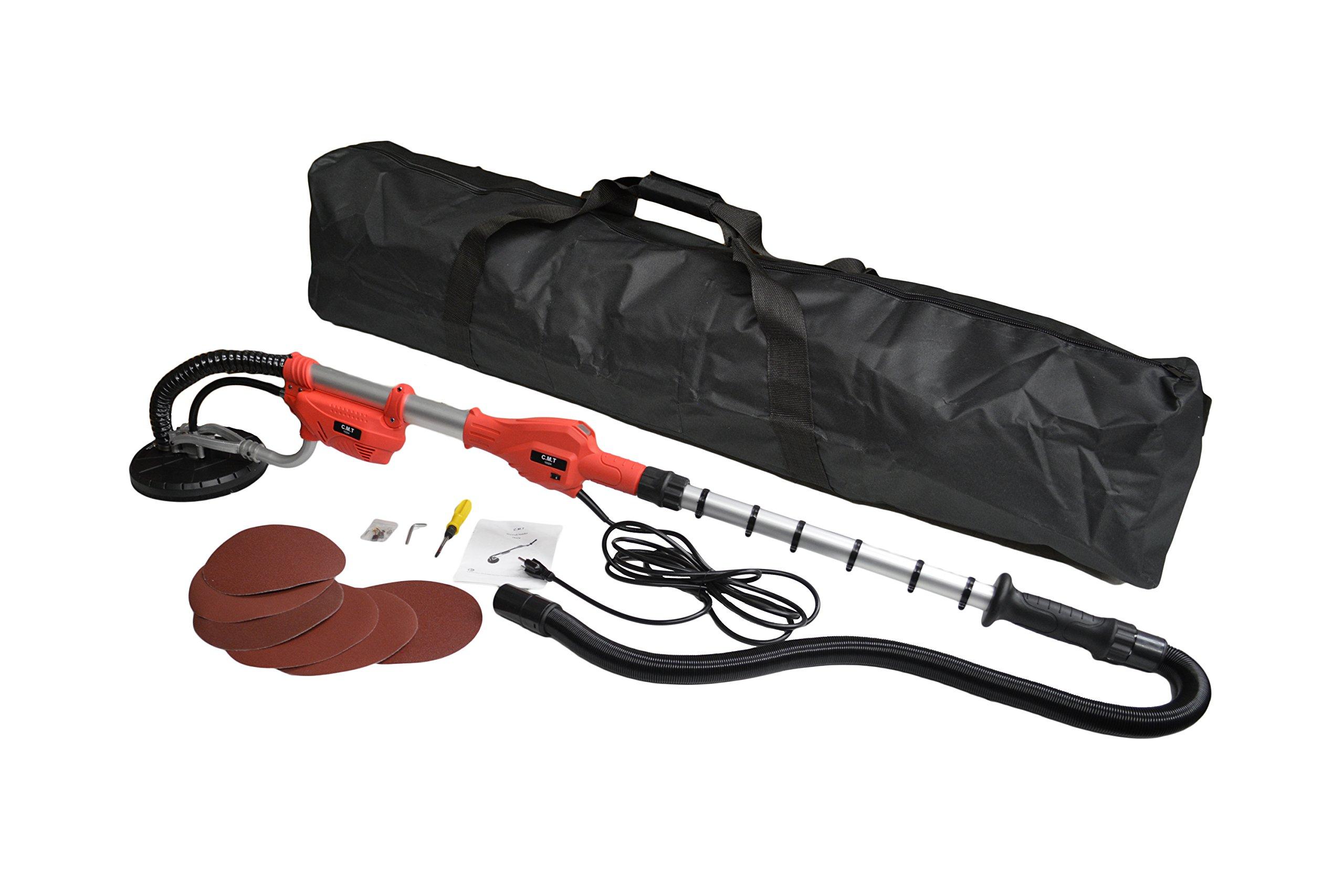 Extendable Drywall Sander 800 Watt Professional Grade Dry Wall Sander with Carry Bag (Extends 43