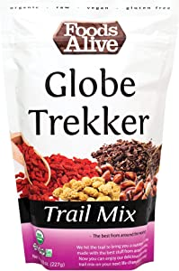 Globe Trekker Trail Mix, Organic, 8oz | Made with Jungle Peanuts, Cacao Nibs, Goji Berries, White Mulberries