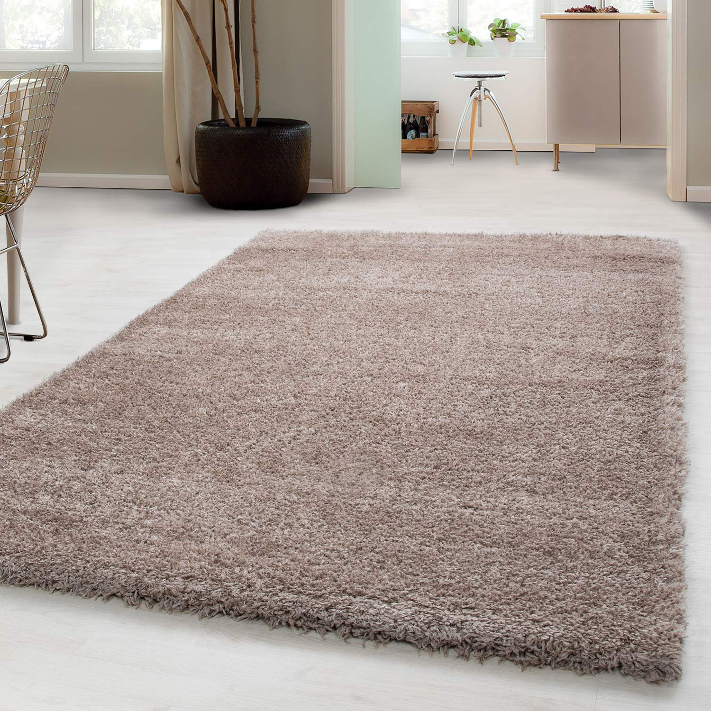 Carpetsale24 Hochflor Schaffel Shaggy Teppich für Wohnzimmer Langflor Pflegeleicht Schadsstof geprüft Teppiche Oeko Tex Standarts, Farbe Beige, Maße 280x370 cm
