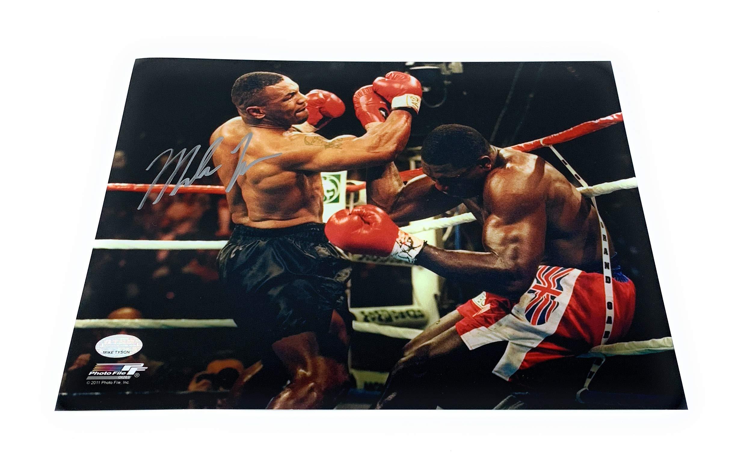 Mike Tyson Boxing Signed Autograph 8x10 Photo Photograph Punch Color GTSM Tyson Hologram Certified