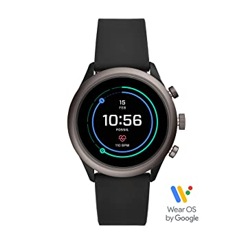 aabc04b388971 Fossil Men's Gen 4 Sport Metal and Silicone Touchscreen Smartwatch with  Heart Rate, GPS, NFC, and Smartphone Notifications