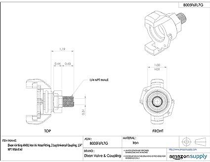 Dixon Air King Am12 Iron Air Hose Fitting 2 Lug Universal Coupling