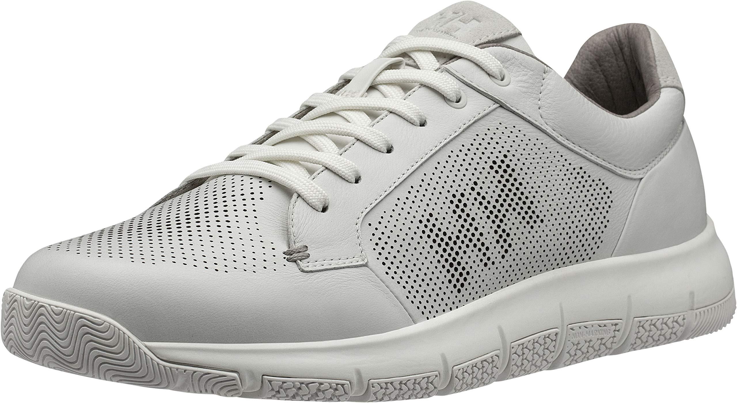Helly Hansen Men's Skagen Pier Leather Shoe, Off White/Aluminum, 11 by Helly Hansen