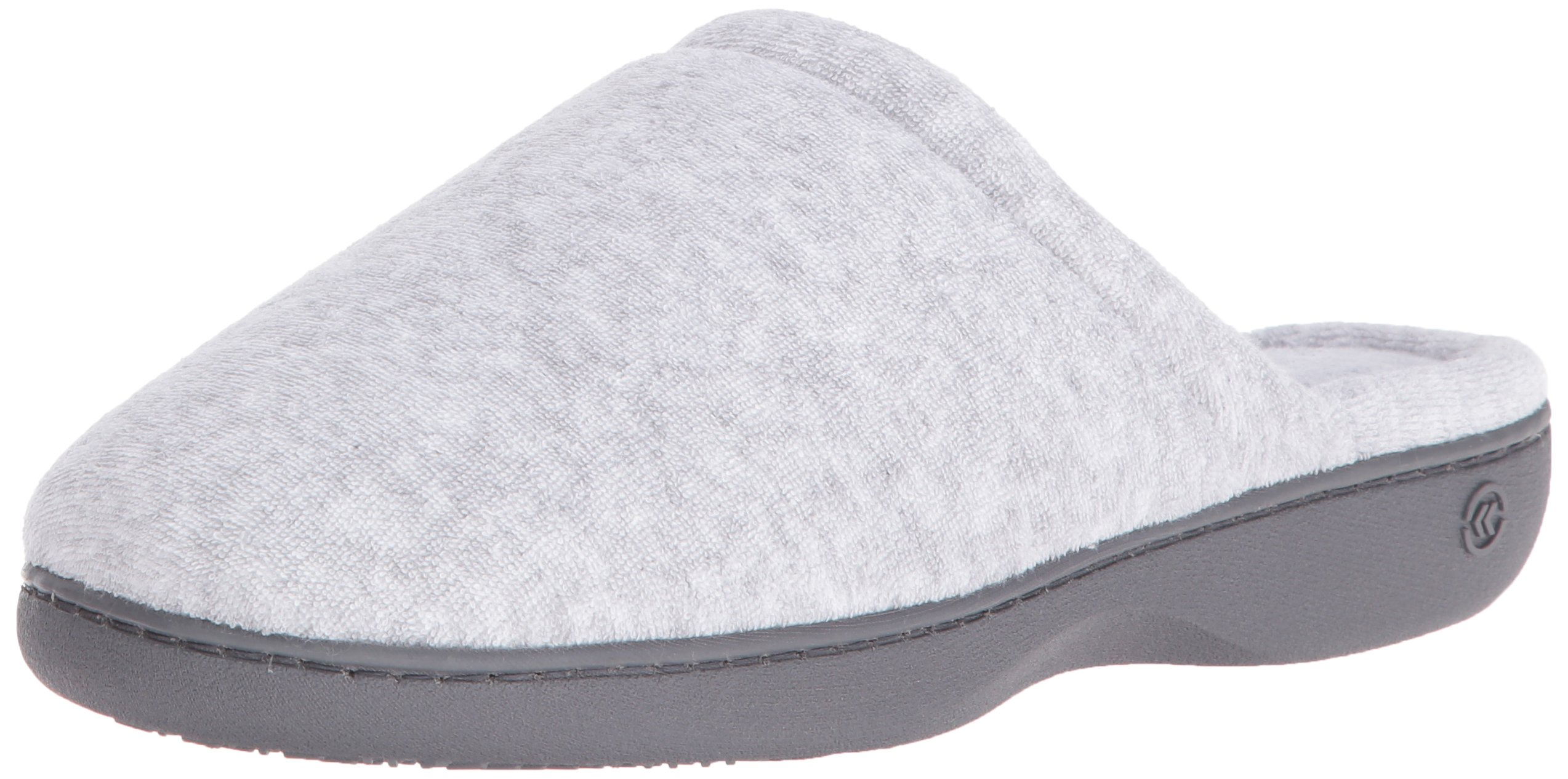 ISOTONER Women's Classic Terry Clog Slippers Slip on, Heather Grey, Large / 8.5-9 Regular US by ISOTONER