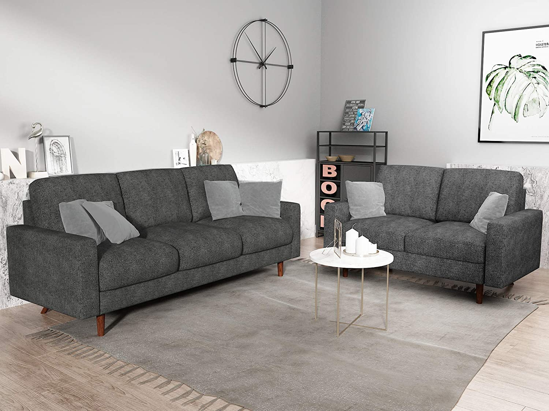 US Pride 2 Piece Living Room Set, Grey