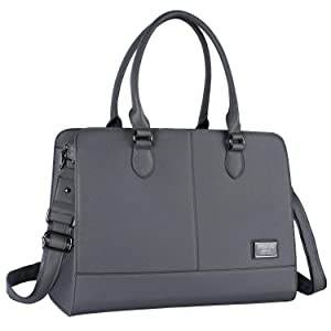 MOSISO Women Laptop Tote Bag (Up to 13.3 Inch) 3 Layer Compartments, Space Gray