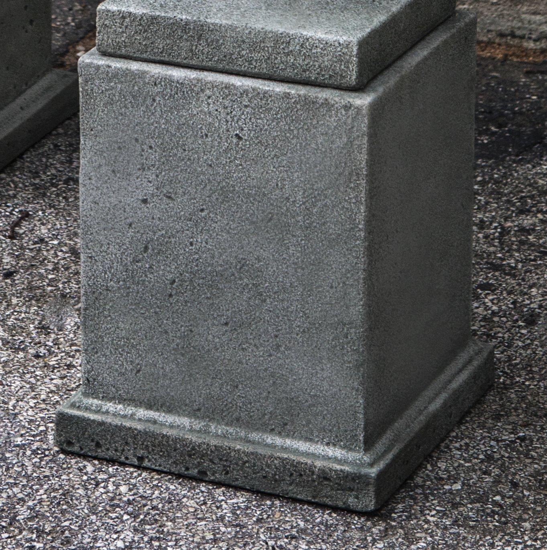 Campania International PD-209-AS Rustic Mini Pedestal, Low, Alpine Stone Finish
