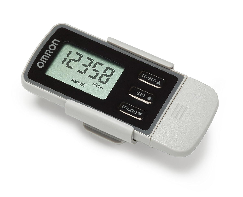 OMRON Walking Style Pro 2.0 - Podómetro, color gris y negro HJ-322U-E