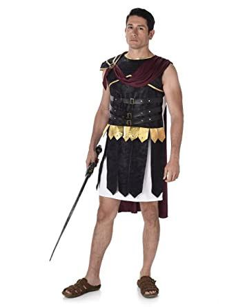 Roman Soldier Mens Fancy Dress Greek Grecian Gladiator Warrior Adult Costume New  sc 1 st  Amazon UK & Roman Soldier Mens Fancy Dress Greek Grecian Gladiator Warrior Adult ...