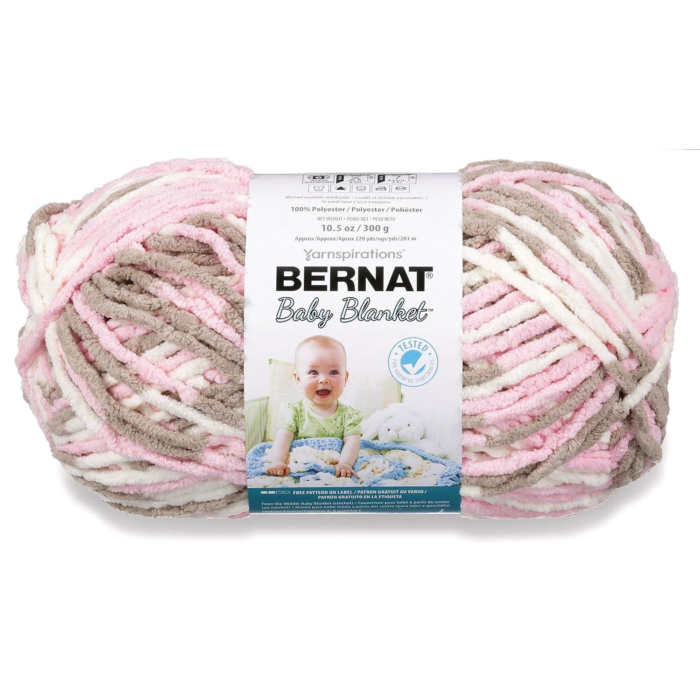 Amazon.com: Bernat Baby Blanket Yarn - (6) Super Bulky Gauge - 10.5 ...