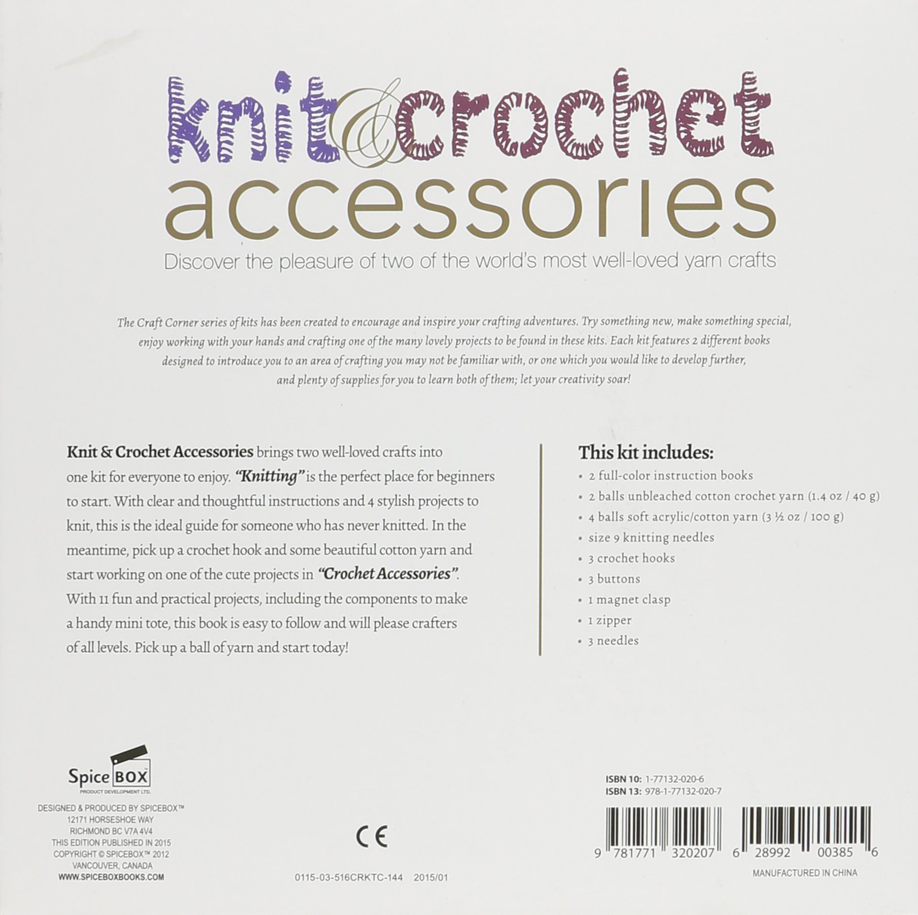 Knit & Crochet Accessories: Discover the Pleasure of Two of the World's Most Well-Loved Yarn Crafts (Craft Corner) by Spice Box (Image #2)