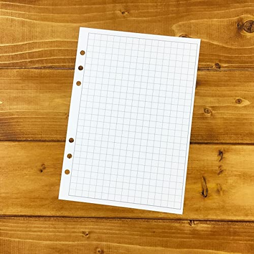 Amazon.com: A5 Graph paper printed planner insert - grid refill ...