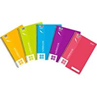 Quill, Spiral, A4Notebook, Lined, 120 Pages, Assorted, Pack of 5