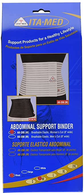 "ITA-MED Womens Breathable 8"" Wide Abdominal Light Support Binder ..."