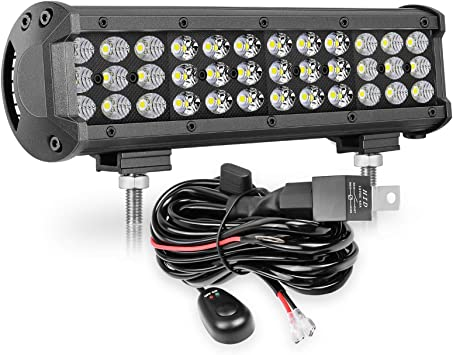 Amazon.com: LED Light Bar, OFFROADTOWN 12 Inch 108W Triple Row LED Light  Bar with Wiring Harness Spot Flood Combo Off Road Driving Light LED Work  Light for Tractor ATV UTV SUV: Automotive | Wiring On A Tractor Work Lights |  | Amazon.com