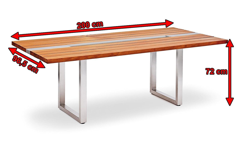 Garvida Großer Tisch Arzia, Gartentisch in natur, Esstisch aus Kauri ...