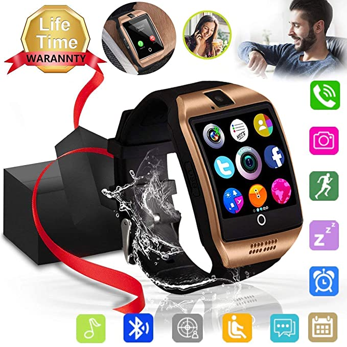 Bluetooth Smart Watch Touch Screen Sport Smart Wrist Watch Smartwatch Fitness Tracker Camera Pedometer SIM TF Card Slot Compatible Samsung Android ...