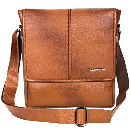 Genuine Leather Sling Bag for Men - Cosmus Colorado TAN Leather Bag for  iPad  Amazon.in  Bags 42a9afe01d038