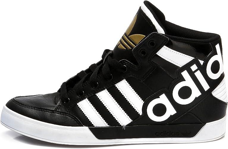 Lontano Insostituibile misurare  adidas Hardcourt Hi Big Logo Men's Trainers (UK11.5 EUR46 2/3 US12) Black  White Gold: Amazon.co.uk: Shoes & Bags