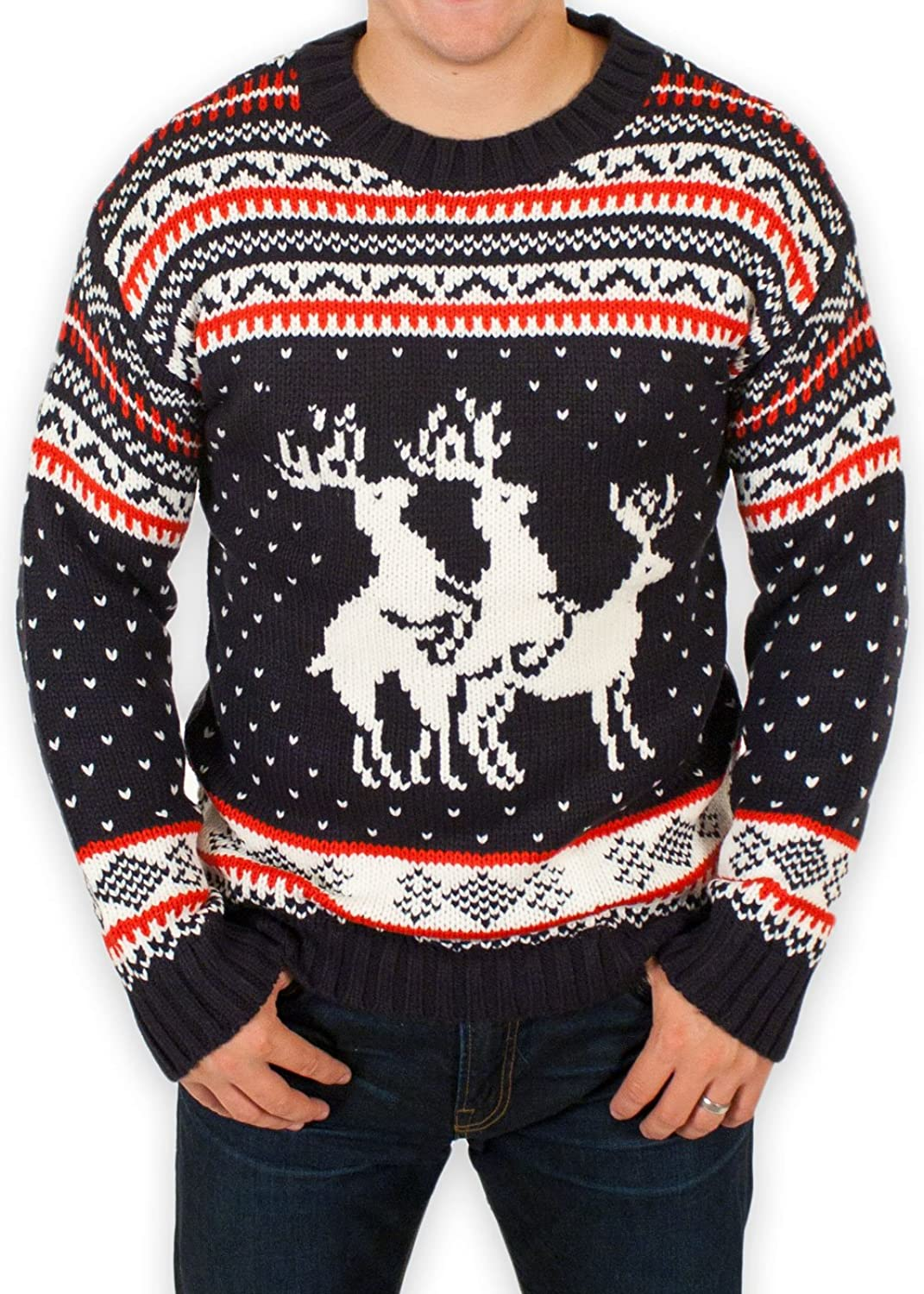 Ugly Christmas Sweater - Reindeer Threesome Sweater By Festified at ...