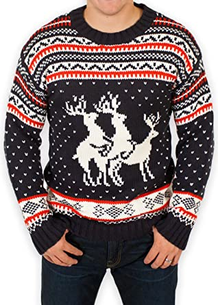 45c7e5de0c94de Ugly Christmas Sweater - Reindeer Threesome Sweater By Festified (Small)