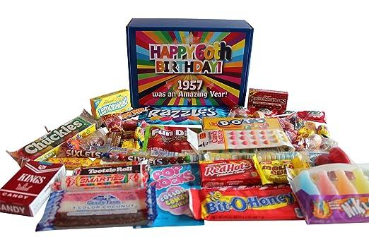 Caja de regalo nostálgica de 60 cumpleaños para 1957: Amazon ...