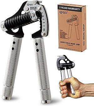 GD Iron Grip EXT 90 Hand Grip Exerciser Strengthener Premium Adjustable Hand Gripper (55 to 198 lbs (25~90kg)) Grip Strength Trainer Wrist Strengtheners