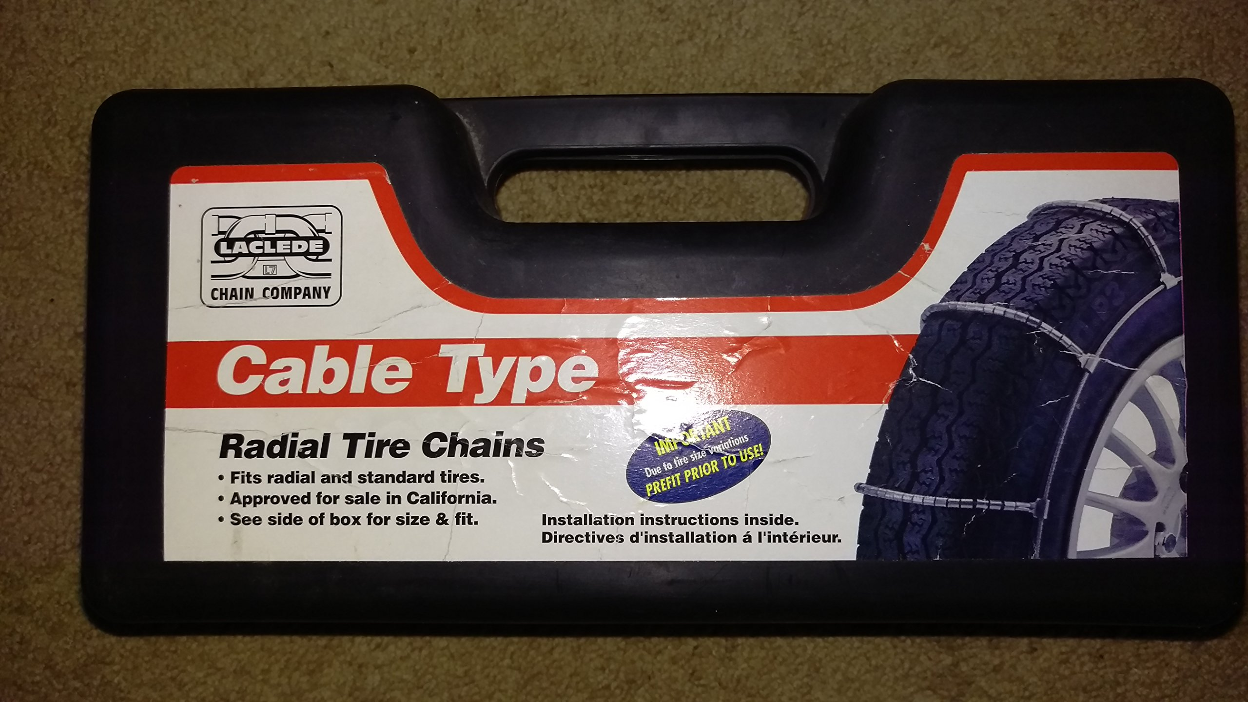 Laclede Chain 7021-042-11 Passenger Snap-Lock Cable Chains