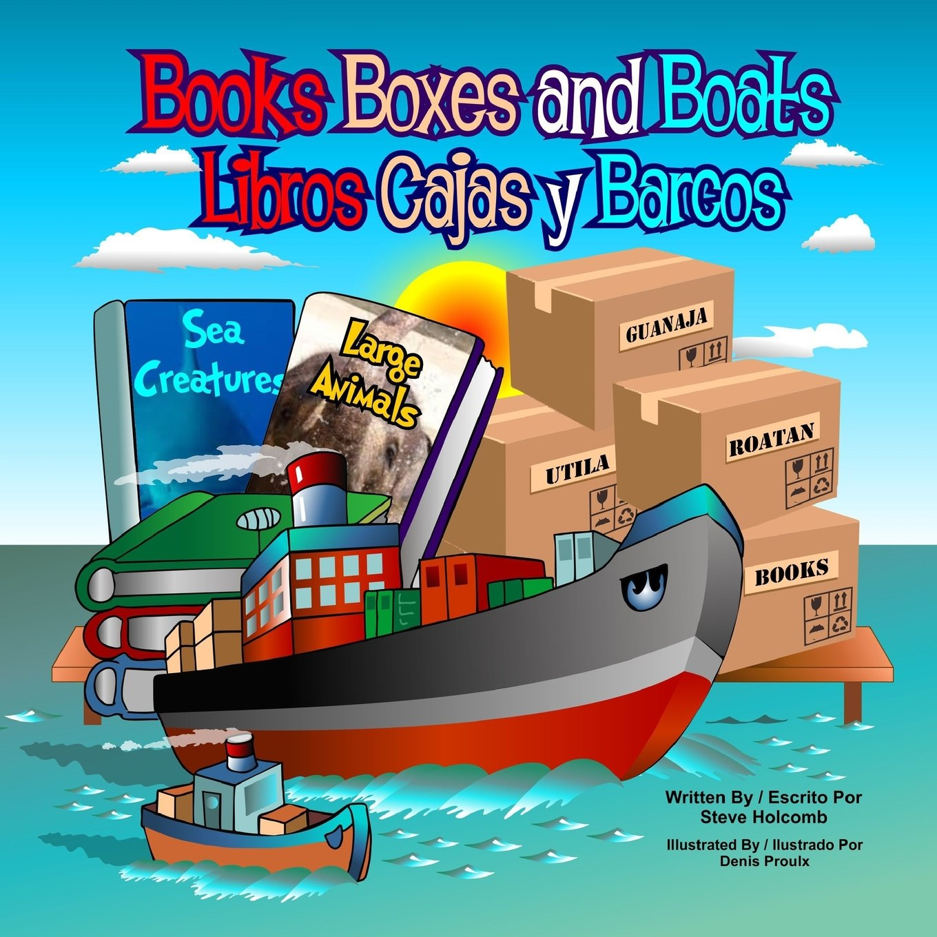 Books Boxes and Boats: Libros Cajas y Barcos Paperback – Large Print, April 4, 2017